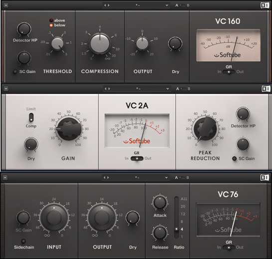 Native Instruments - Vintage compressors